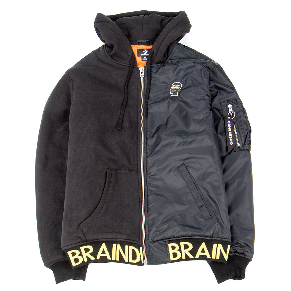 Style code 10008773A01. Converse Incubate x Brain Dead Hooded Bomber / Black