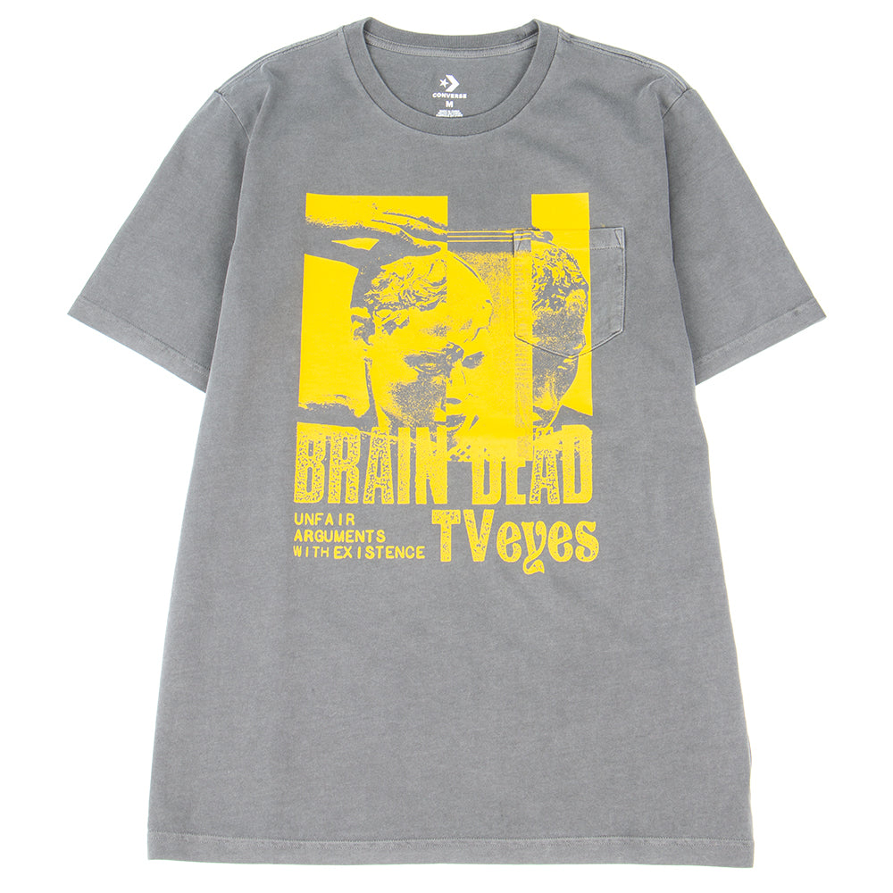 Style code 10008776A01. Converse Incubate x Brain Dead Pocket T-shirt / Anthracite