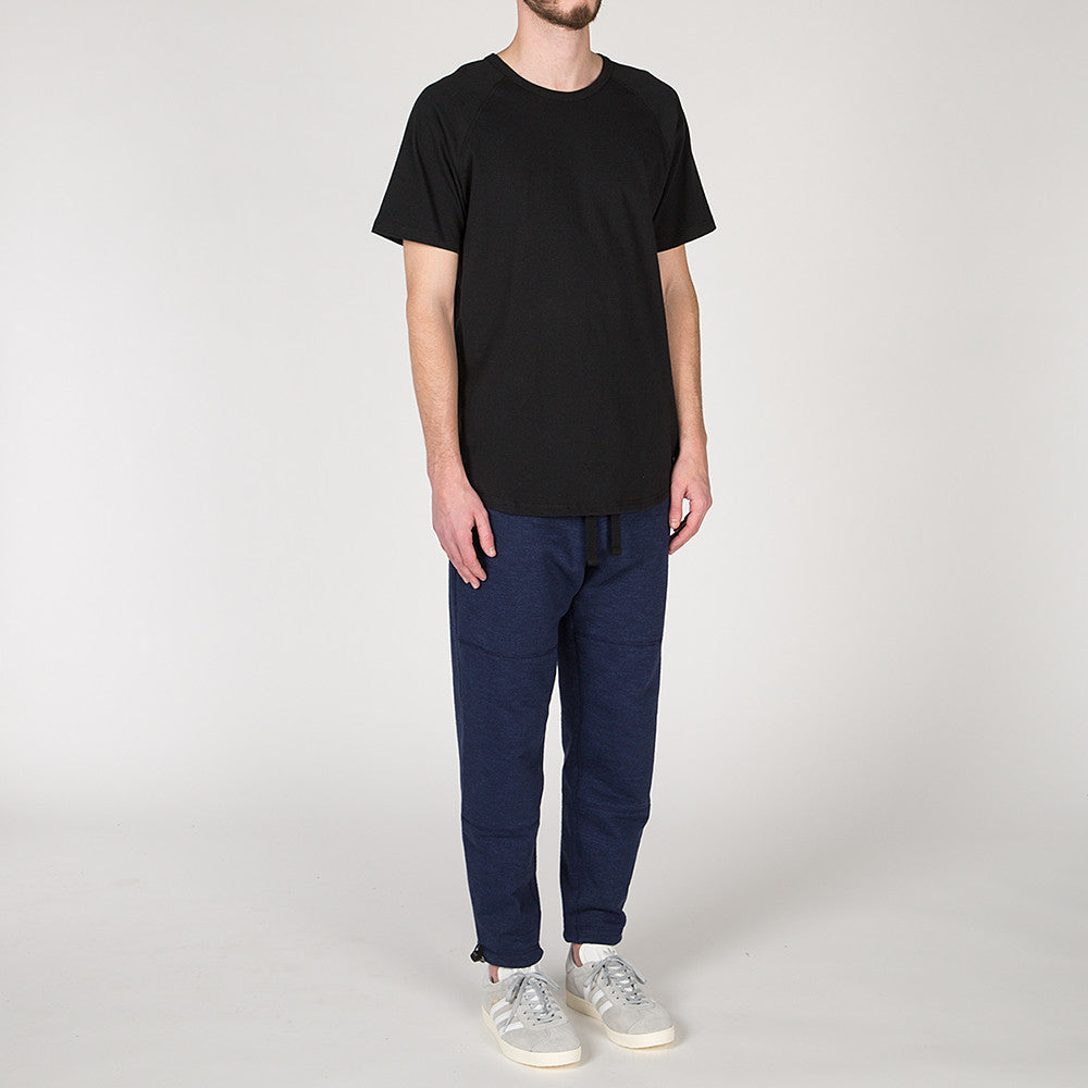 {ie RAGLAN T-SHIRT / BLACK SLUB
