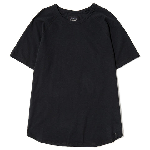 {ie RAGLAN T-SHIRT / BLACK SLUB - 1