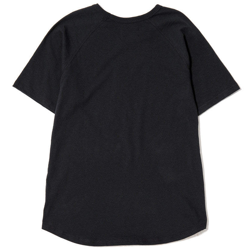 {ie RAGLAN T-SHIRT / BLACK SLUB - 2