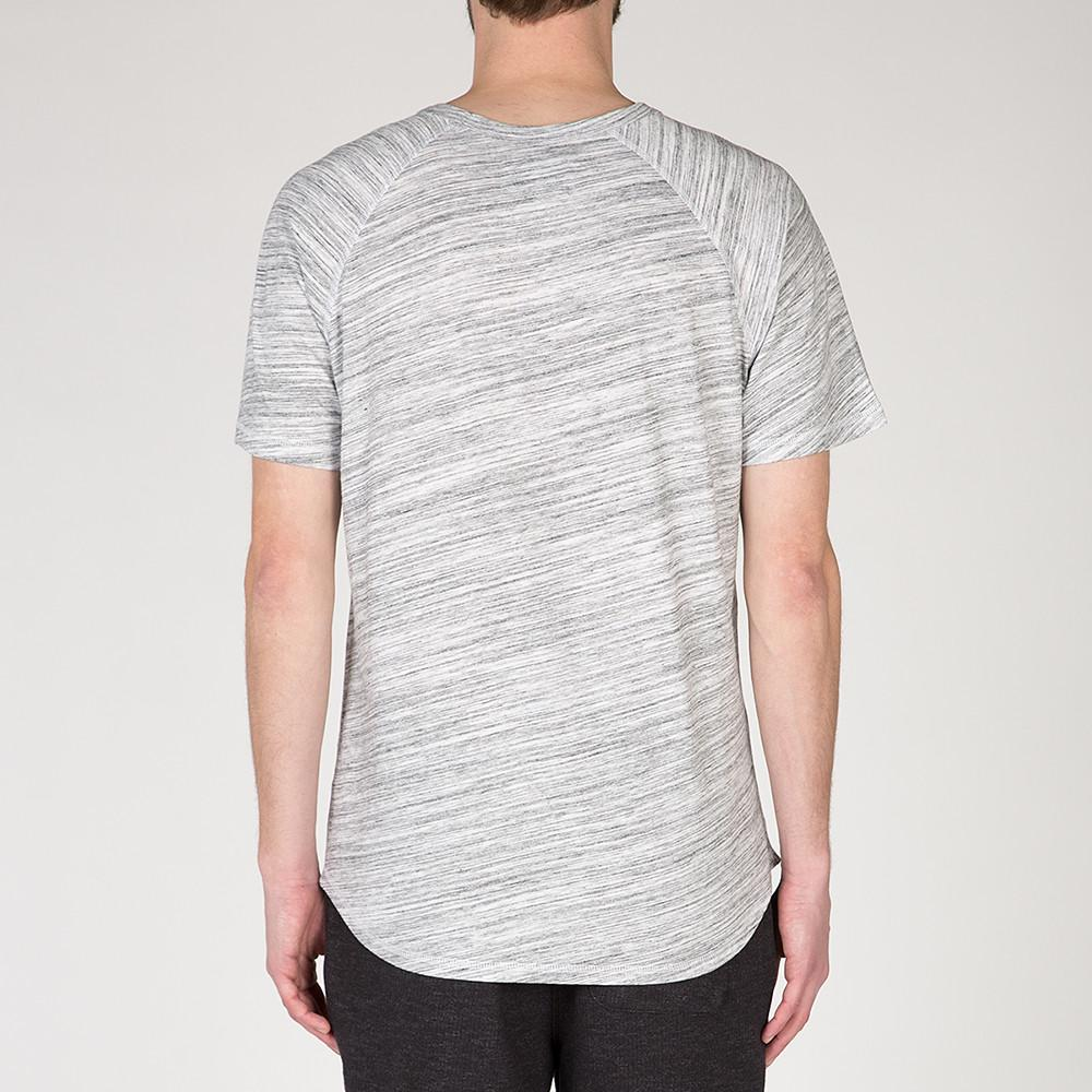 {ie RAGLAN T-SHIRT / WHITE MELANGE