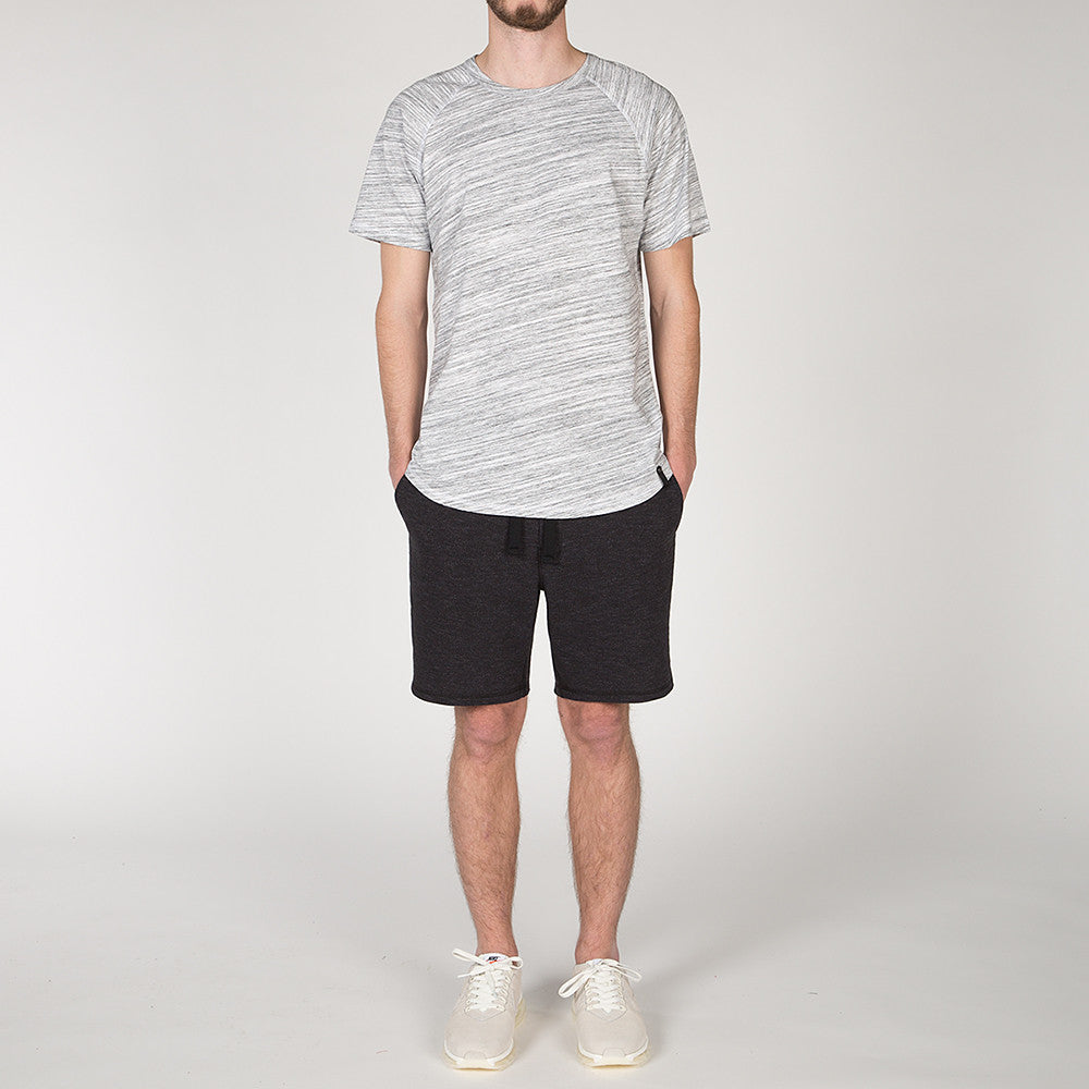 {ie TRIANGLE T-SHIRT / WHITE MELANGE