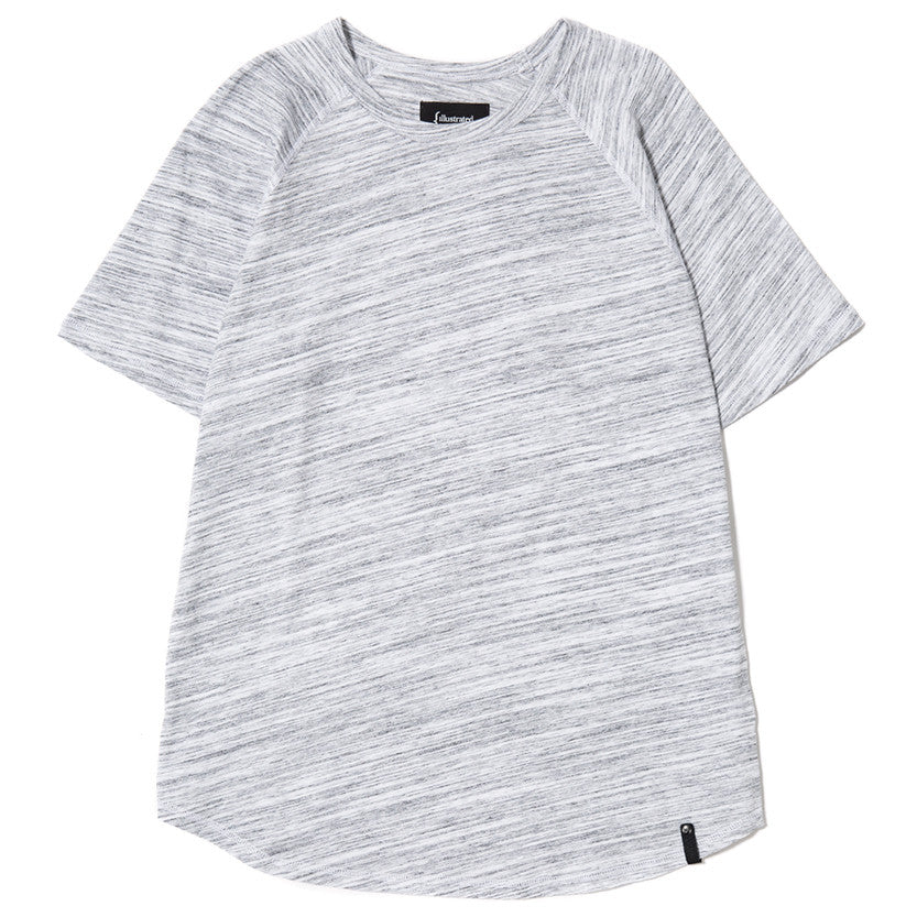 {ie RAGLAN T-SHIRT / WHITE MELANGE - 1