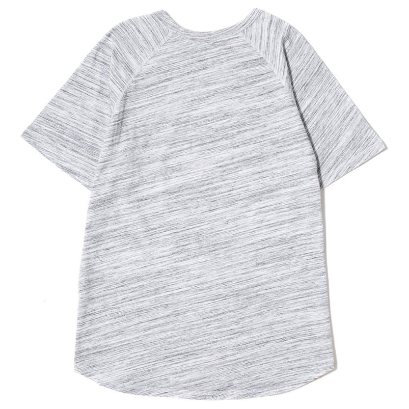 {ie RAGLAN T-SHIRT / WHITE MELANGE - 2