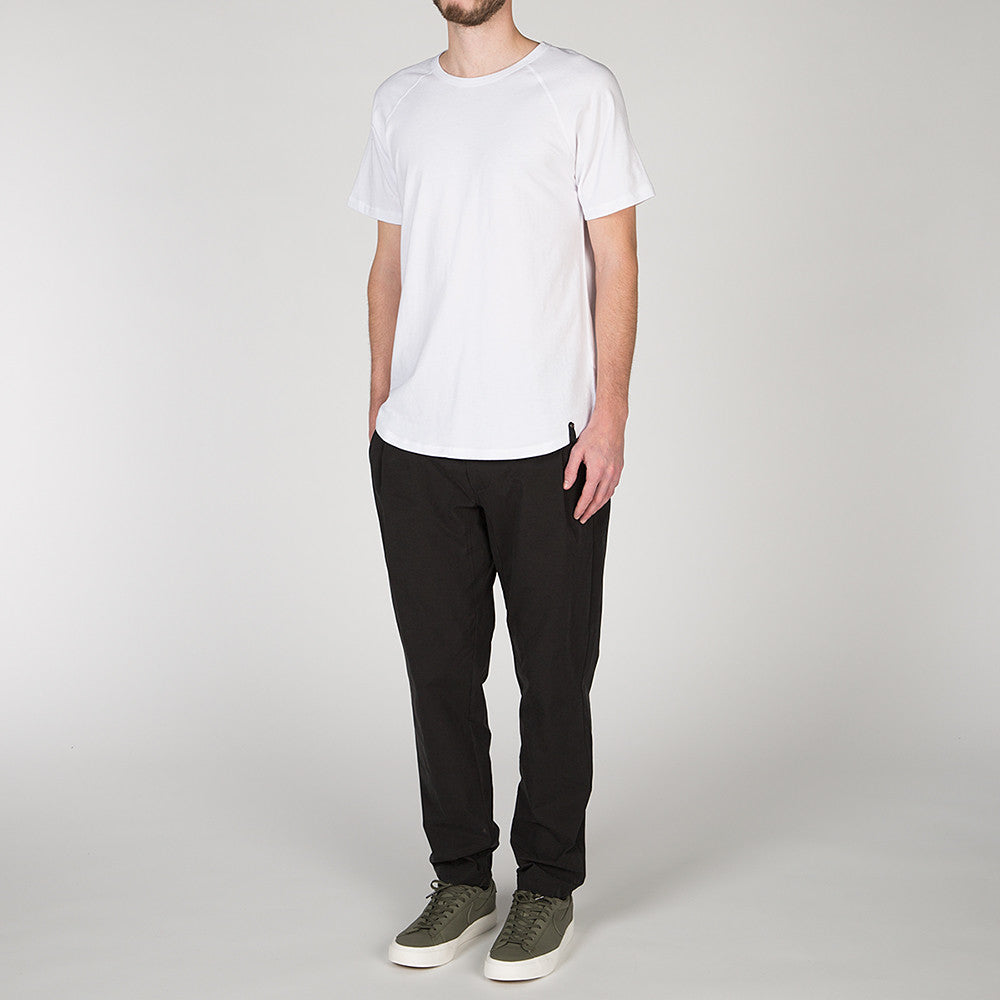 {ie RAGLAN T-SHIRT / WHITE SUPIMA