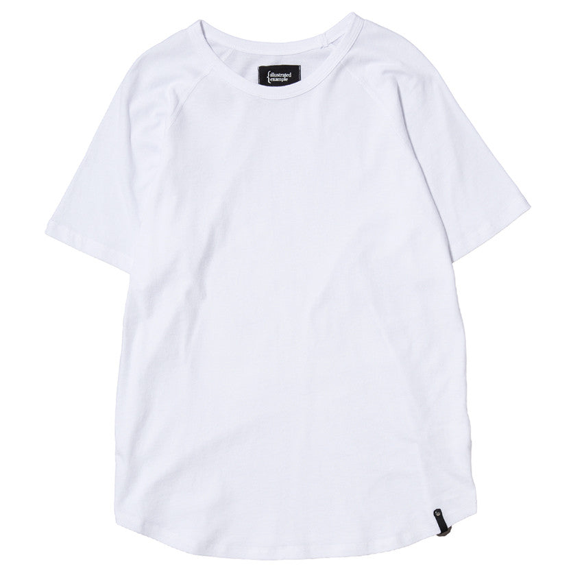 {ie RAGLAN T-SHIRT / WHITE SUPIMA - 1
