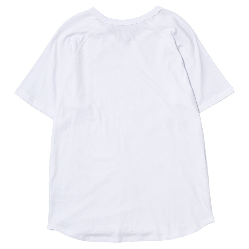 {ie RAGLAN T-SHIRT / WHITE SUPIMA - 2