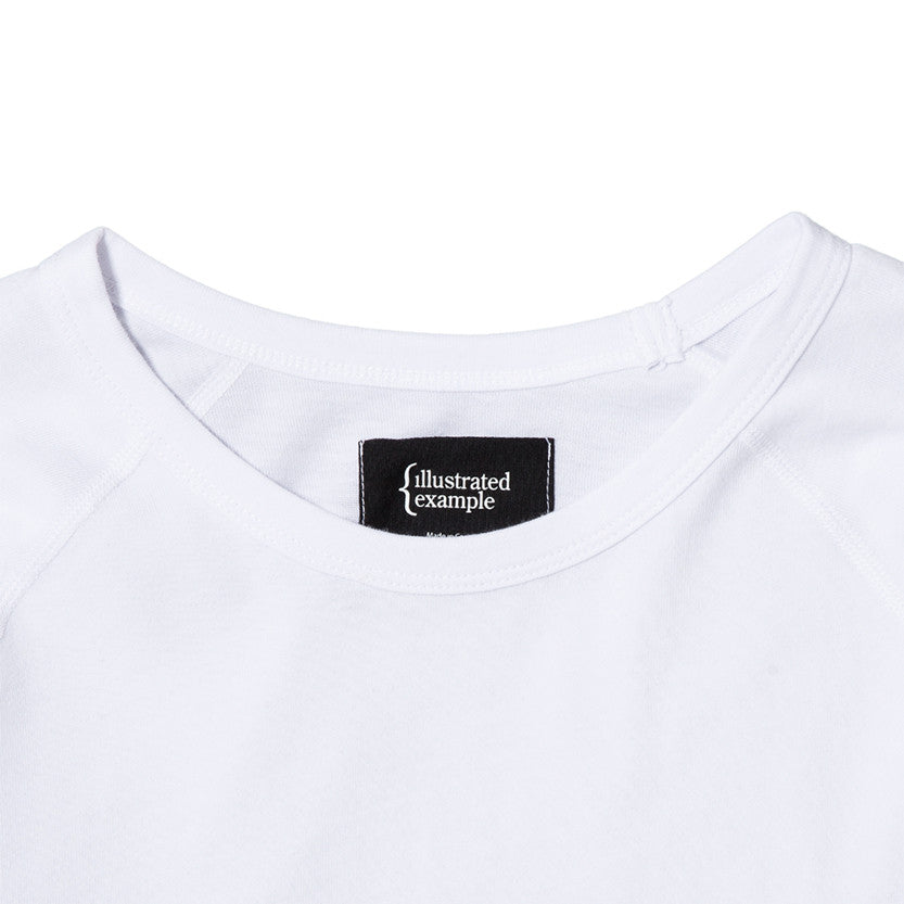 {ie RAGLAN T-SHIRT / WHITE SUPIMA - 3