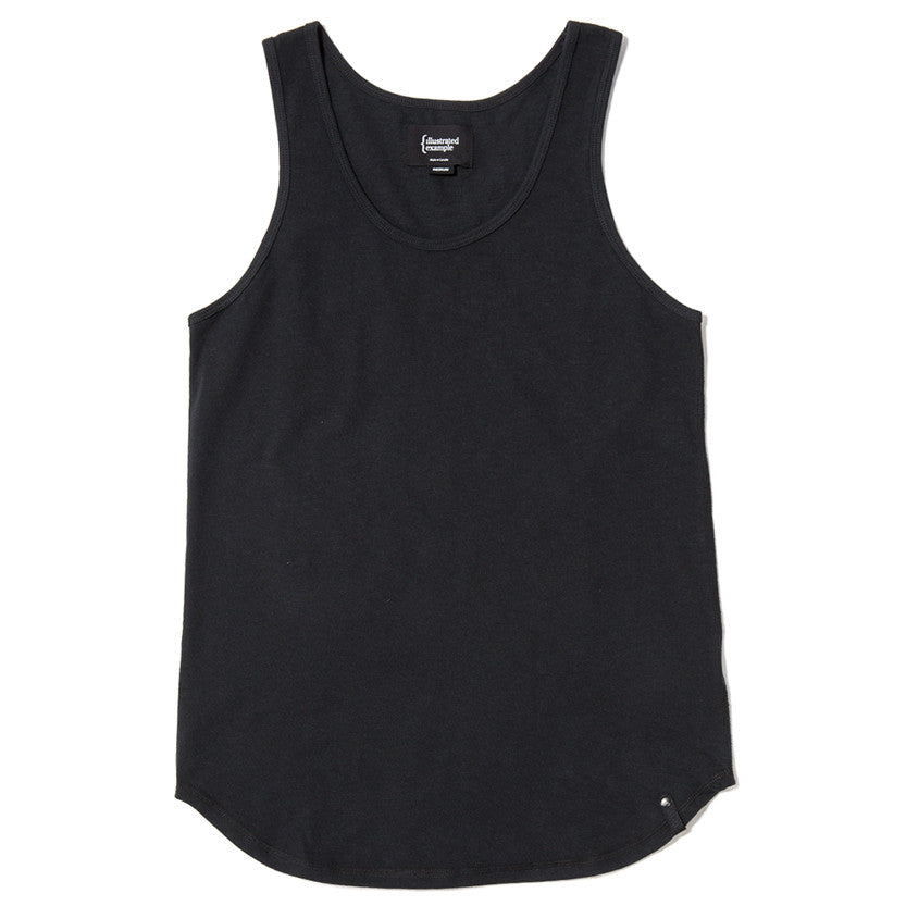 {ie TANK / BLACK SLUB - 1