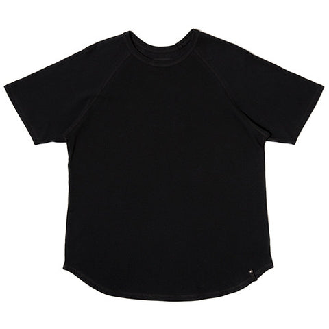 {ie MOSS STITCH RAGLAN T-SHIRT / BLACK - 1