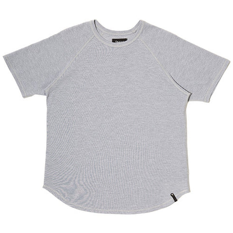 {ie MOSS STITCH RAGLAN T-SHIRT / HEATHER GREY - 1