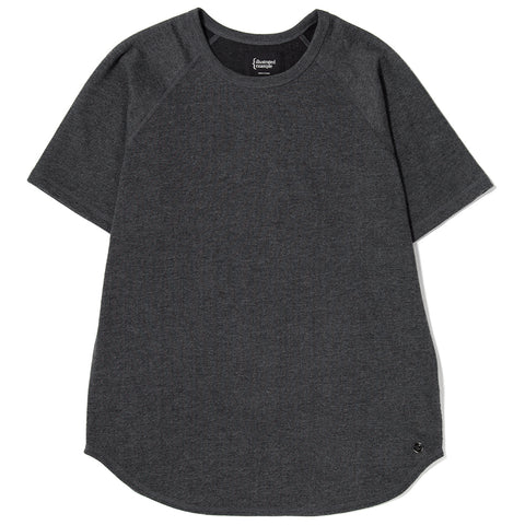style code 1017LTEF17HCH. {ie RAGLAN T-SHIRT / HEATHER CHARCOAL