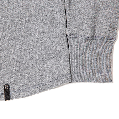 {ie DOUBLE KNIT HENLEY / HEATHER GREY - 4