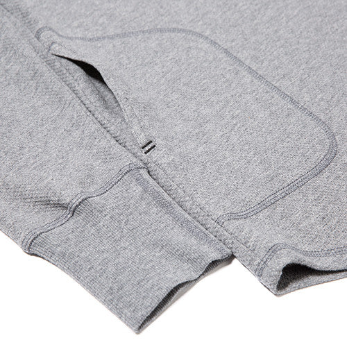 {ie DOUBLE KNIT HENLEY / HEATHER GREY - 5
