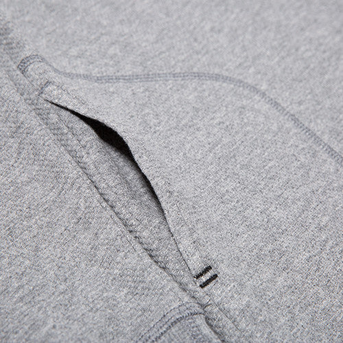 {ie DOUBLE KNIT HENLEY / HEATHER GREY - 6