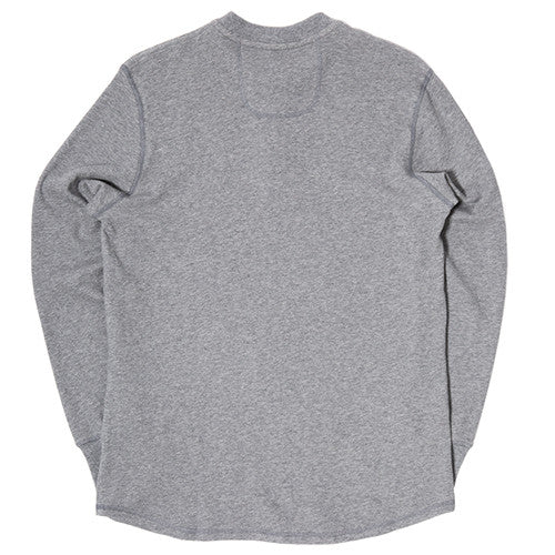 {ie DOUBLE KNIT HENLEY / HEATHER GREY - 2