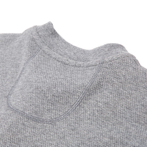 {ie DOUBLE KNIT HENLEY / HEATHER GREY - 7