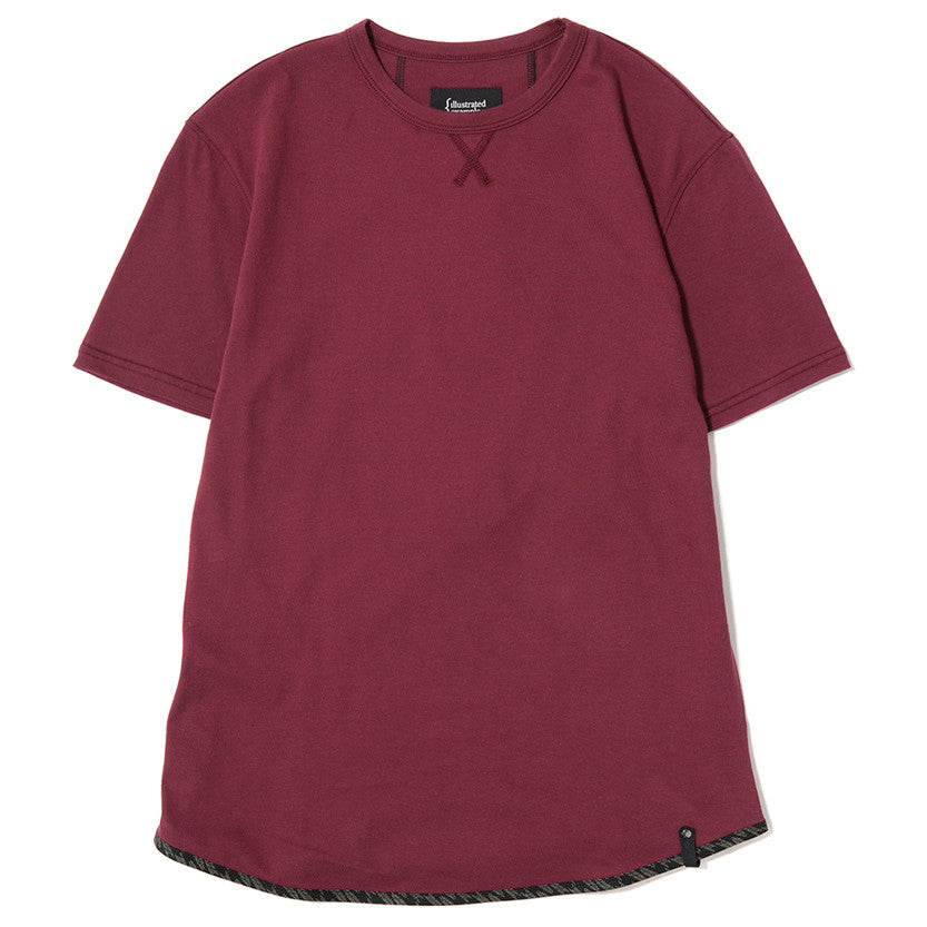 {ie TRIANGLE T-SHIRT / BURGUNDY SUPIMA - 1