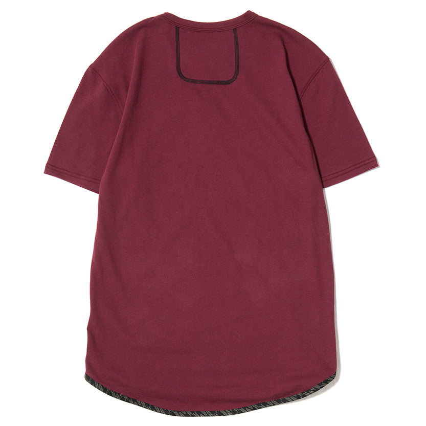 {ie TRIANGLE T-SHIRT / BURGUNDY SUPIMA - 2