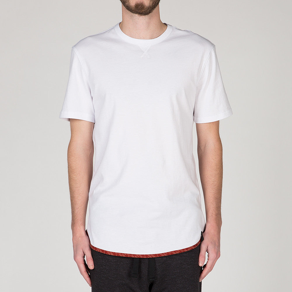 {ie TRIANGLE T-SHIRT / WHITE SUPIMA