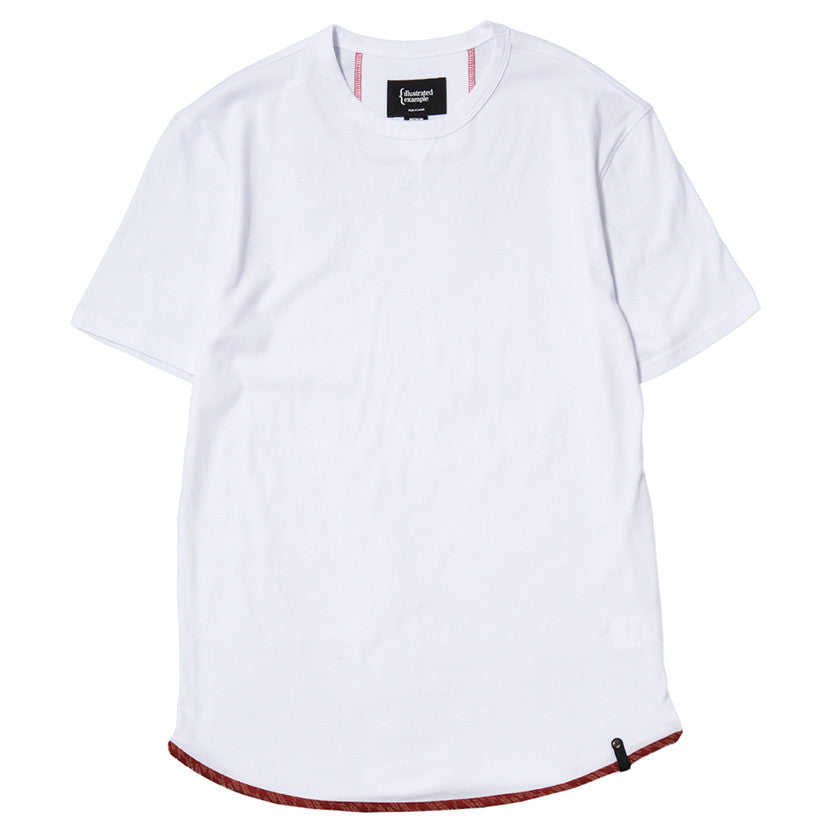 {ie TRIANGLE T-SHIRT / WHITE SUPIMA - 1