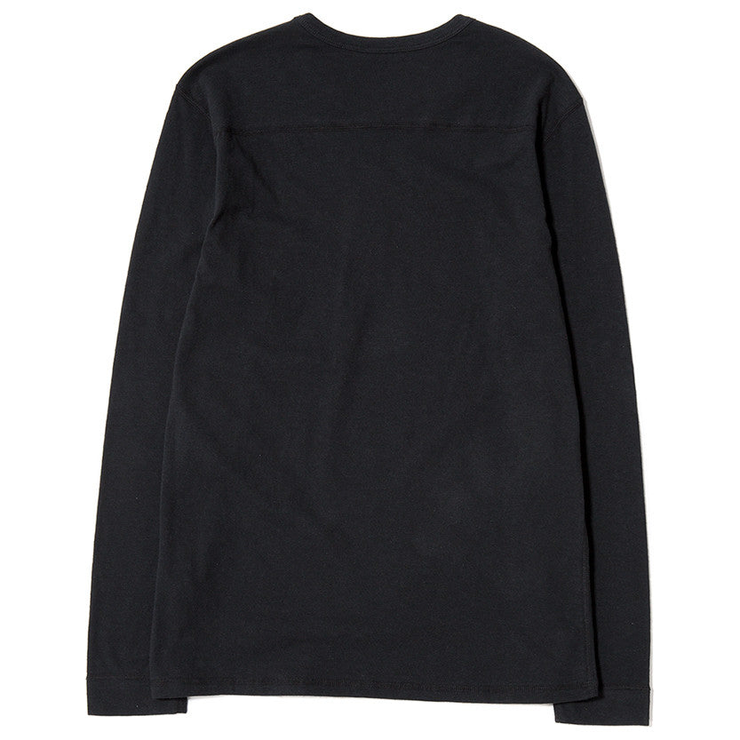 {ie LONG SLEEVE POCKET T-SHIRT / BLACK SLUB - 2