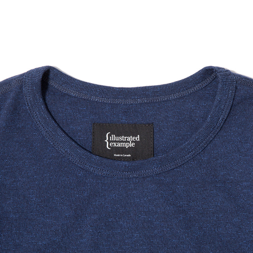 {ie LONG SLEEVE POCKET T-SHIRT / INDIGO SLUB - 3