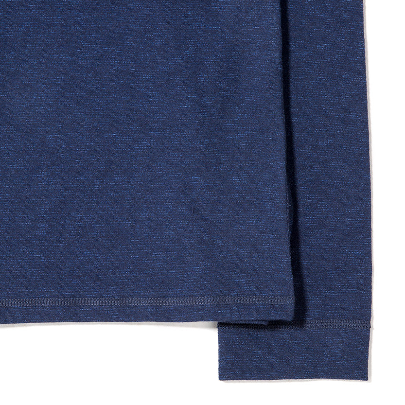 {ie LONG SLEEVE POCKET T-SHIRT / INDIGO SLUB - 4