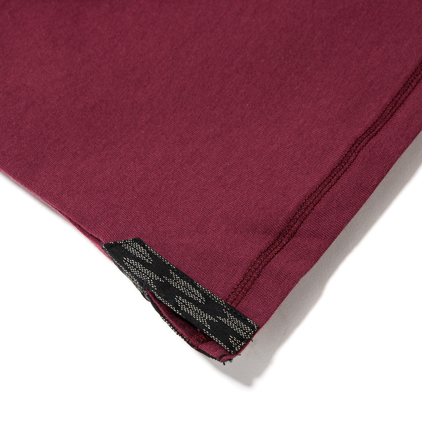 {ie LONG SLEEVE HENLEY / BURGUNDY SUPIMA - 5