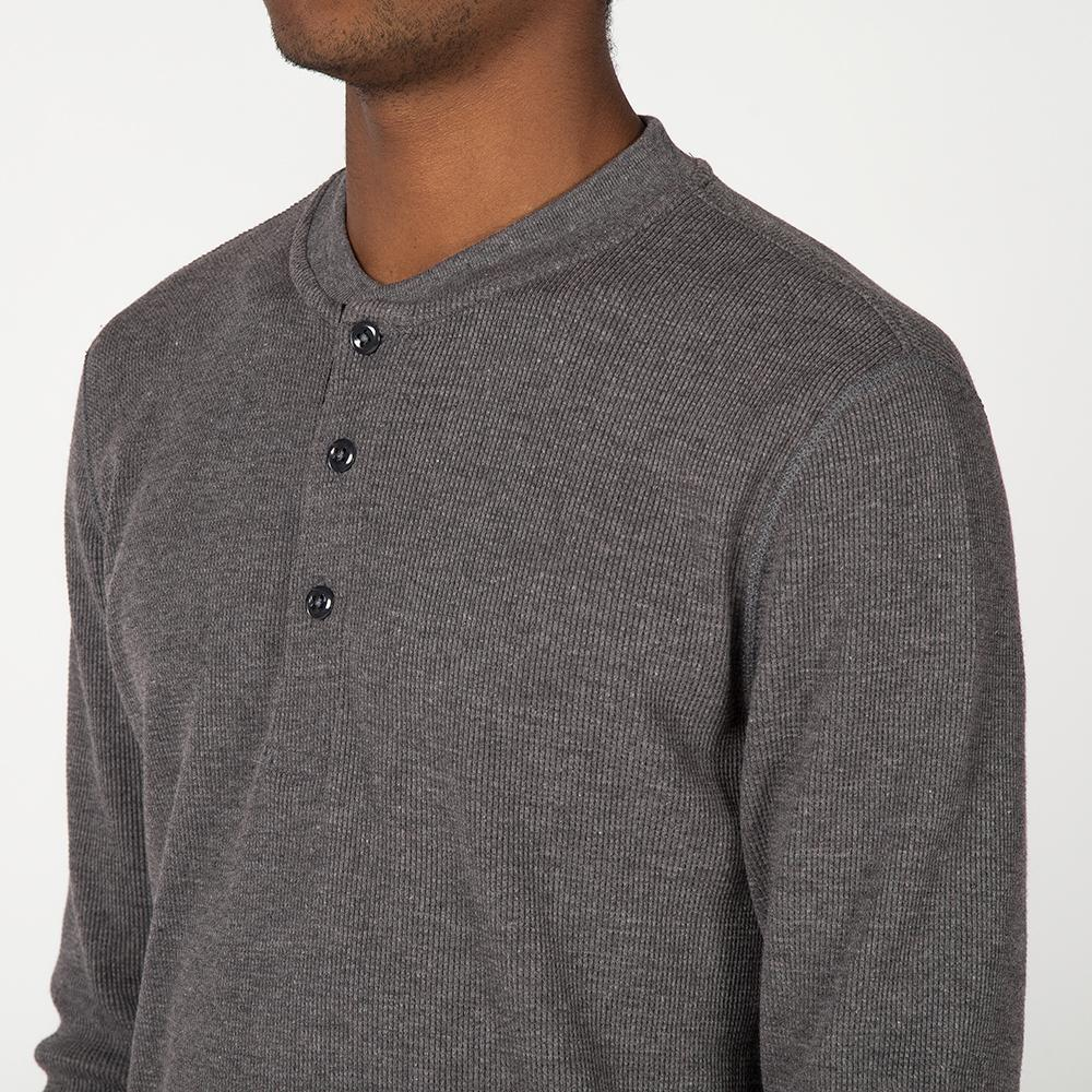style code 1024THF17CHA. {ie WAFFLE HENLEY / CHARCOAL