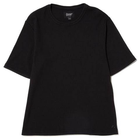 style code 1026THF17BLK. {ie WAFFLE T-SHIRT / BLACK