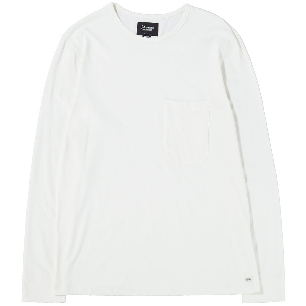 Style code 1027S18VAN. {ie LONG SLEEVE POCKET T-SHIRT / VANILLA