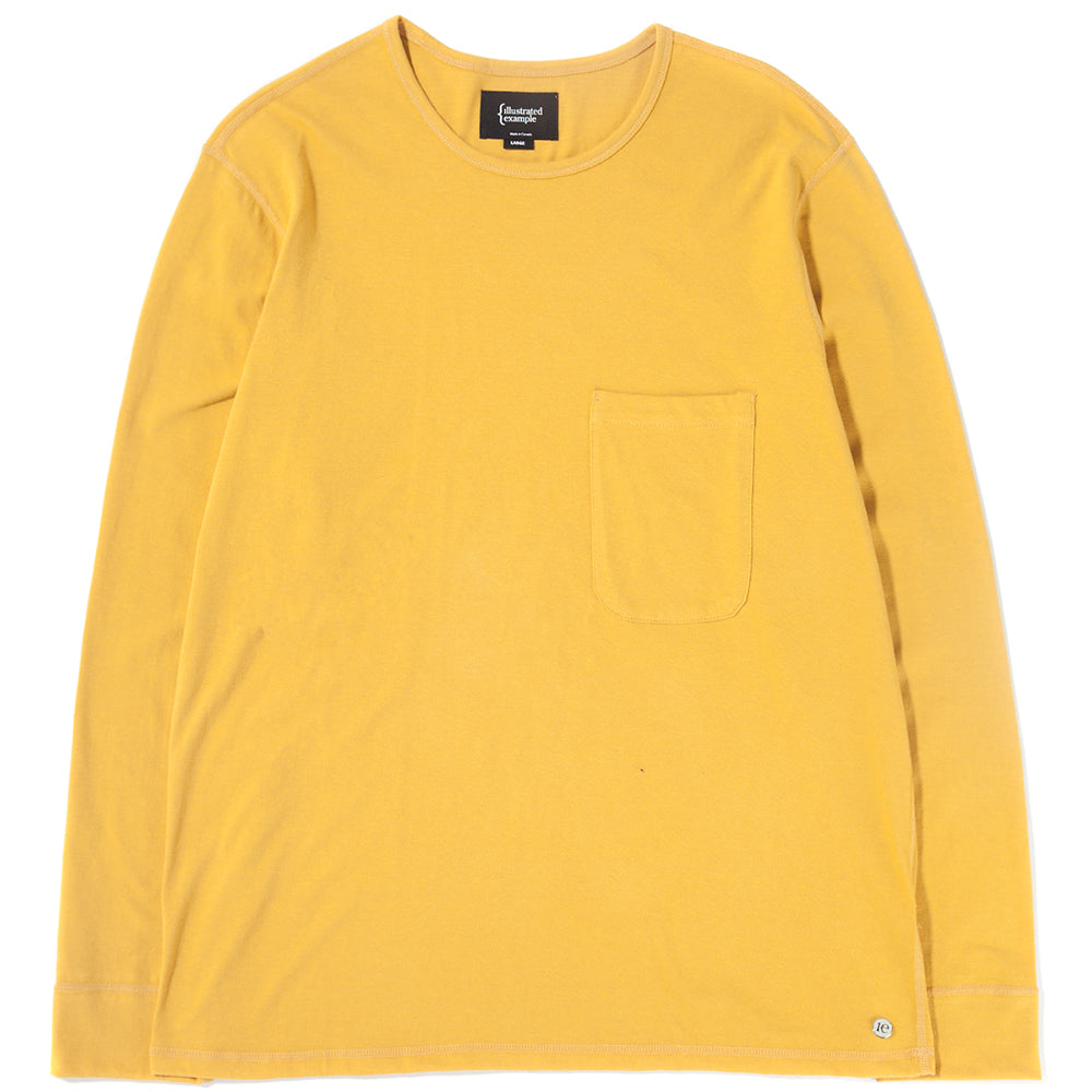 Style code 1027S18YEL. {ie LONG SLEEVE POCKET T-SHIRT / YELLOW