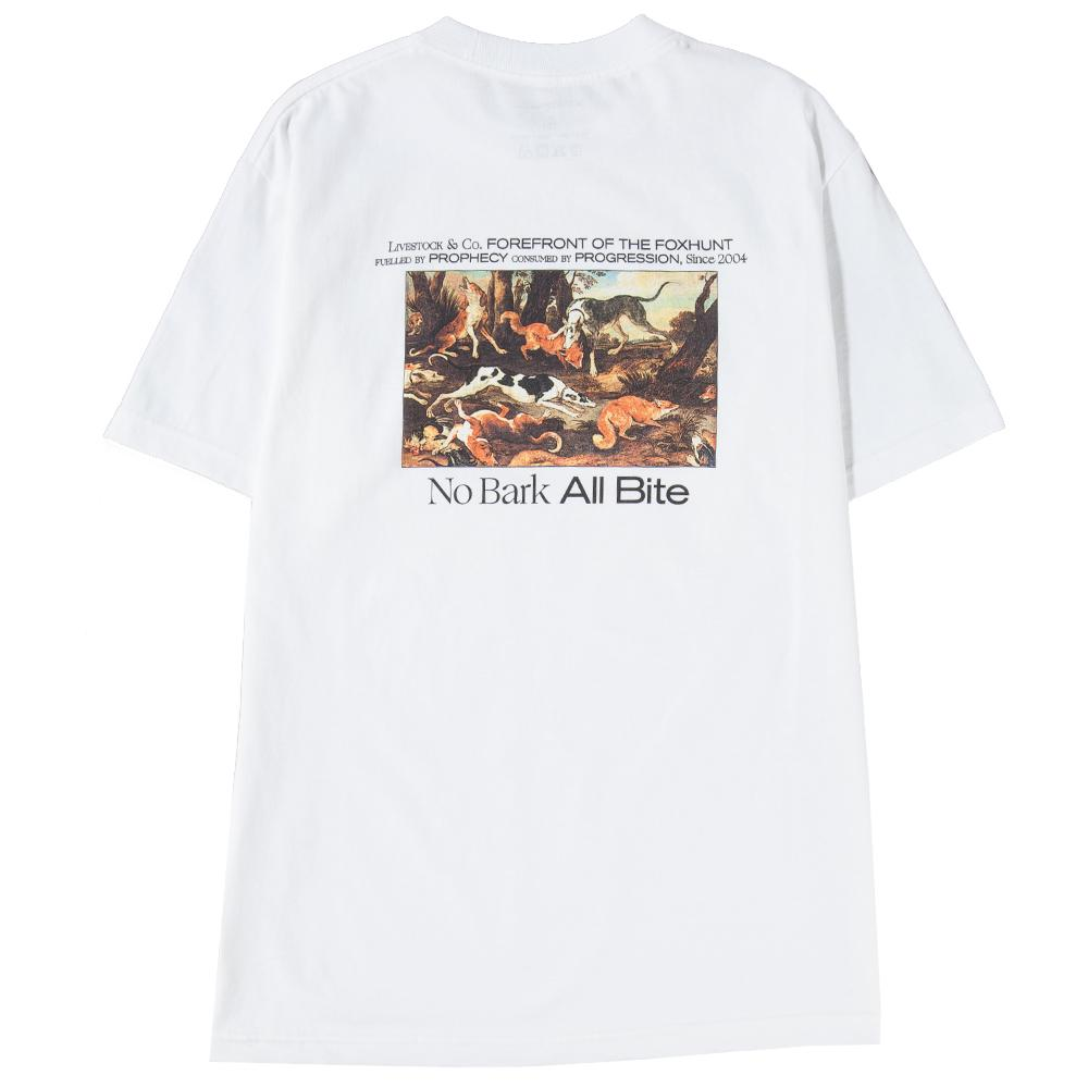 Style code 1038LSSS18WHT. Livestock All Bite T-shirt / White