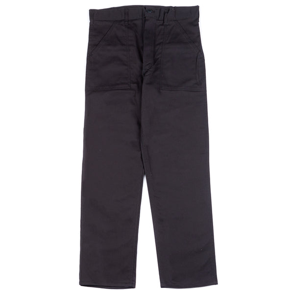 Style code 11008S18. Stan Ray OG Loose Fatigue Pant / Black Twill