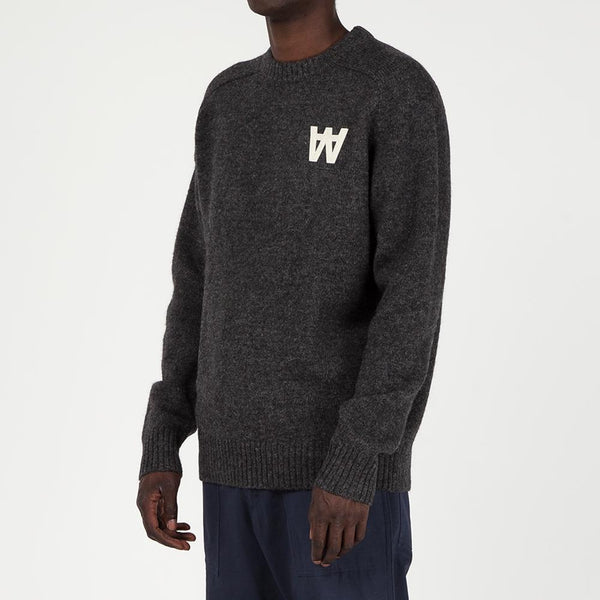 Style code 118355104033DGR. Wood Wood Kevin Sweater / Dark Grey Melange