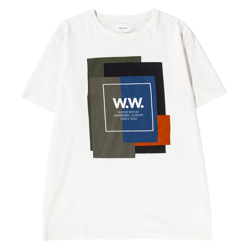 Style code 118357212334OFF. Wood Wood WW Quilt T-shirt / Off White