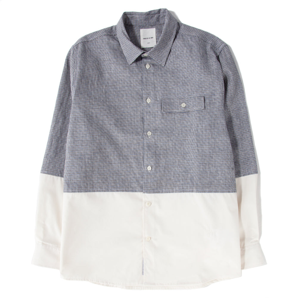Wood Wood Arthur Button Up Shirt / Off-White - Deadstock.ca