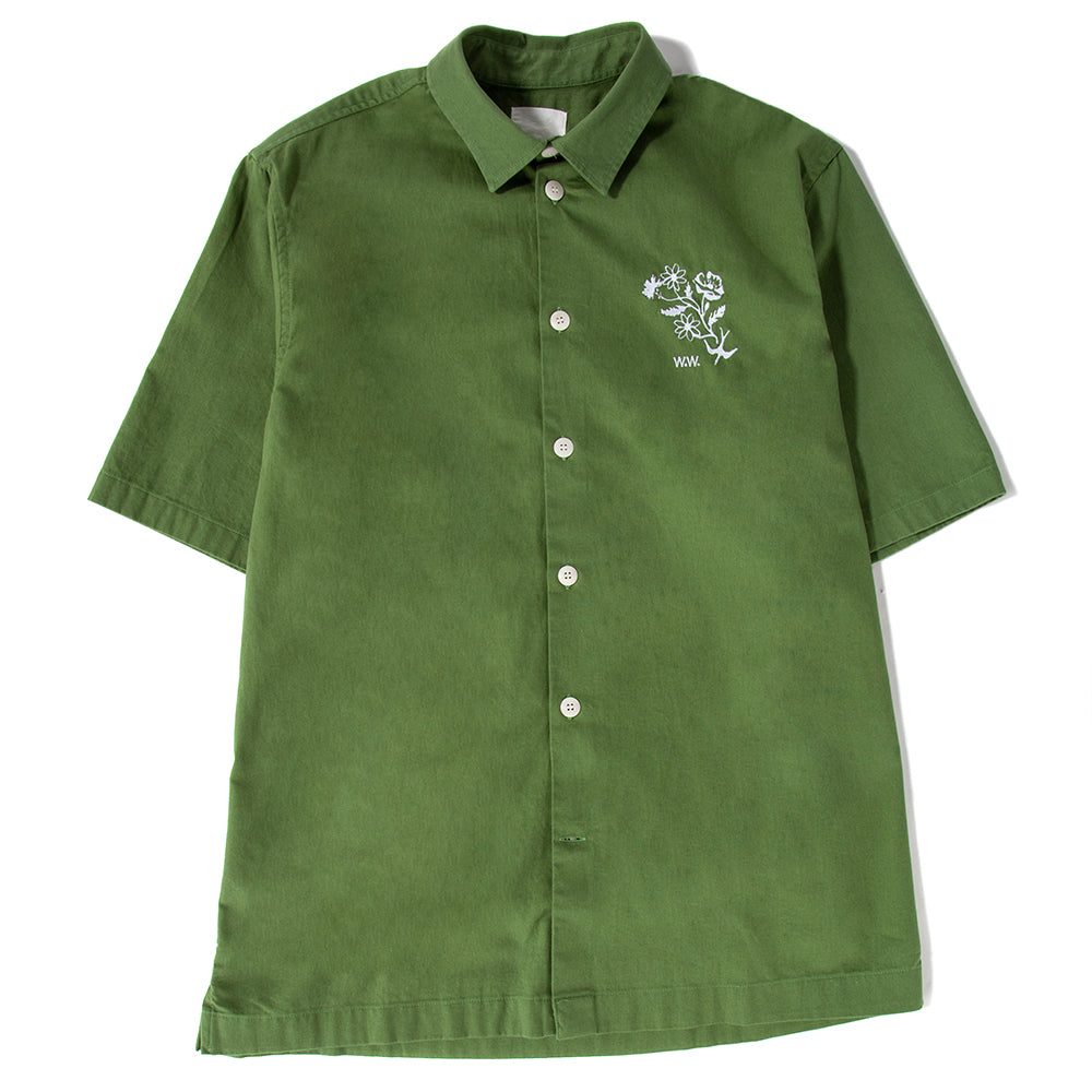 Wood Wood Thor Button Up Shirt / Green - Deadstock.ca