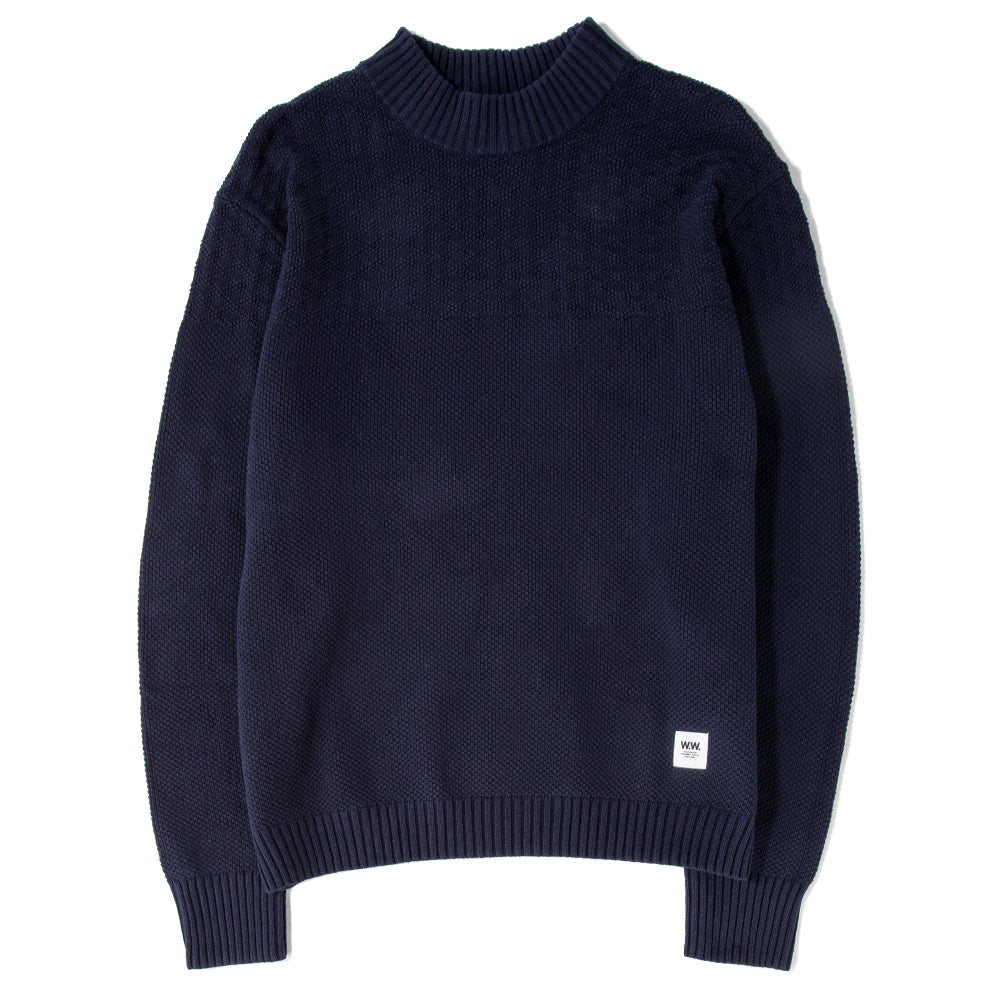 119155154114NVY Wood Wood Ernest Sweater / Navy