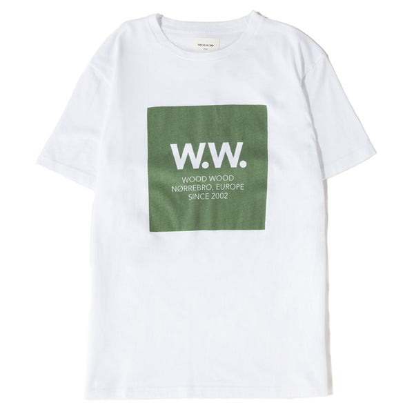 119157252331BRI wood wood ww Square tshirt Bright white green