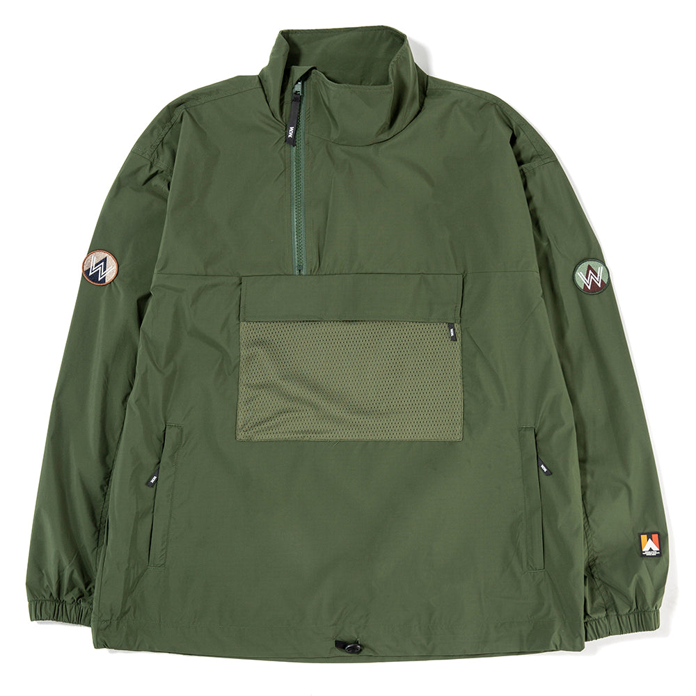 Wood Wood Lenny Track Jacket / Dark Green - Deadstock.ca