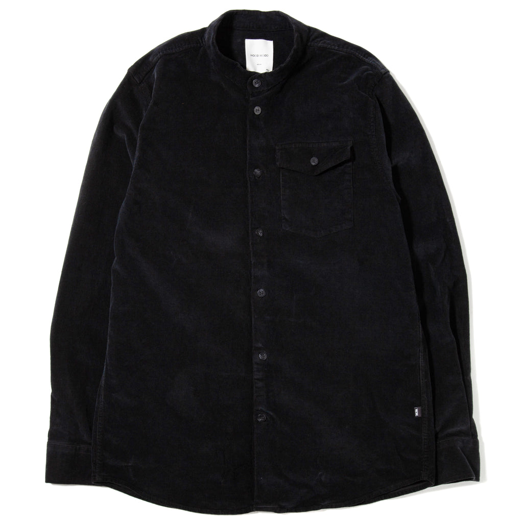 Wood Wood Tyson Button Up Shirt / Black - Deadstock.ca