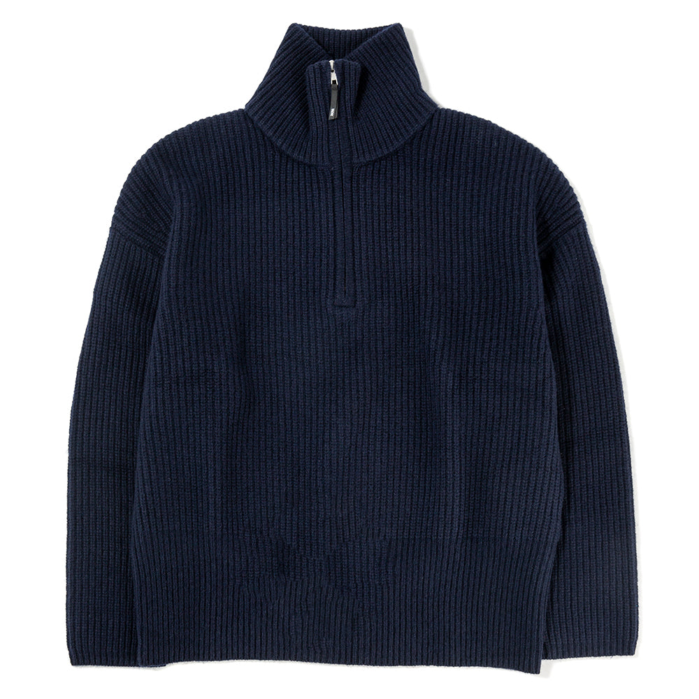 Wood Wood Otto Sweater / Navy - Deadstock.ca