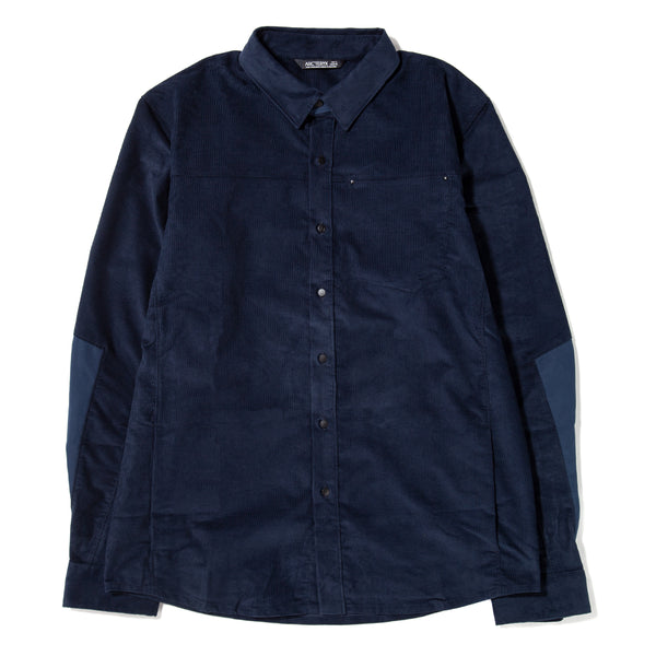 Style code 14584-KIN. Arc'teryx Merlon Long Sleeve Corduroy Shirt / Kingfisher