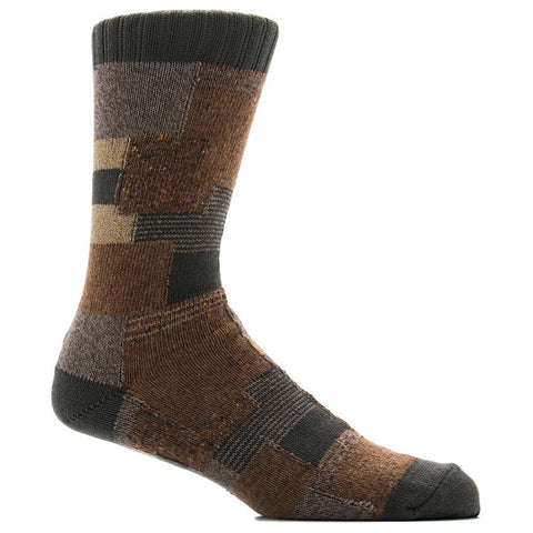 ANONYMOUS ISM PATCHWORK CREW SOCK / KHAKI - 1