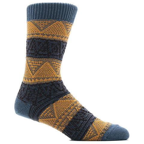 ANONYMOUS ISM MOUNTAIN RANGE CREW SOCK / INDIGO - 1