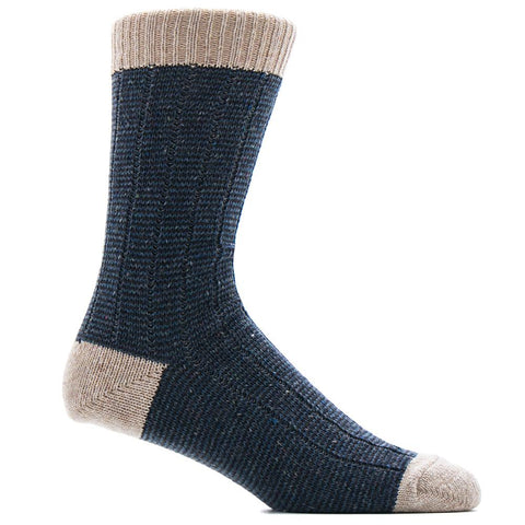 ANONYMOUS ISM TWEED NEP CREW SOCK / NAVY - 1