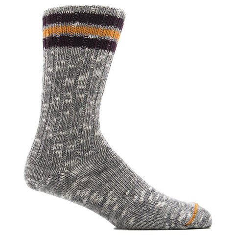 ANONYMOUS ISM 3 LINE SUB CREW SOCK / GREY - 1